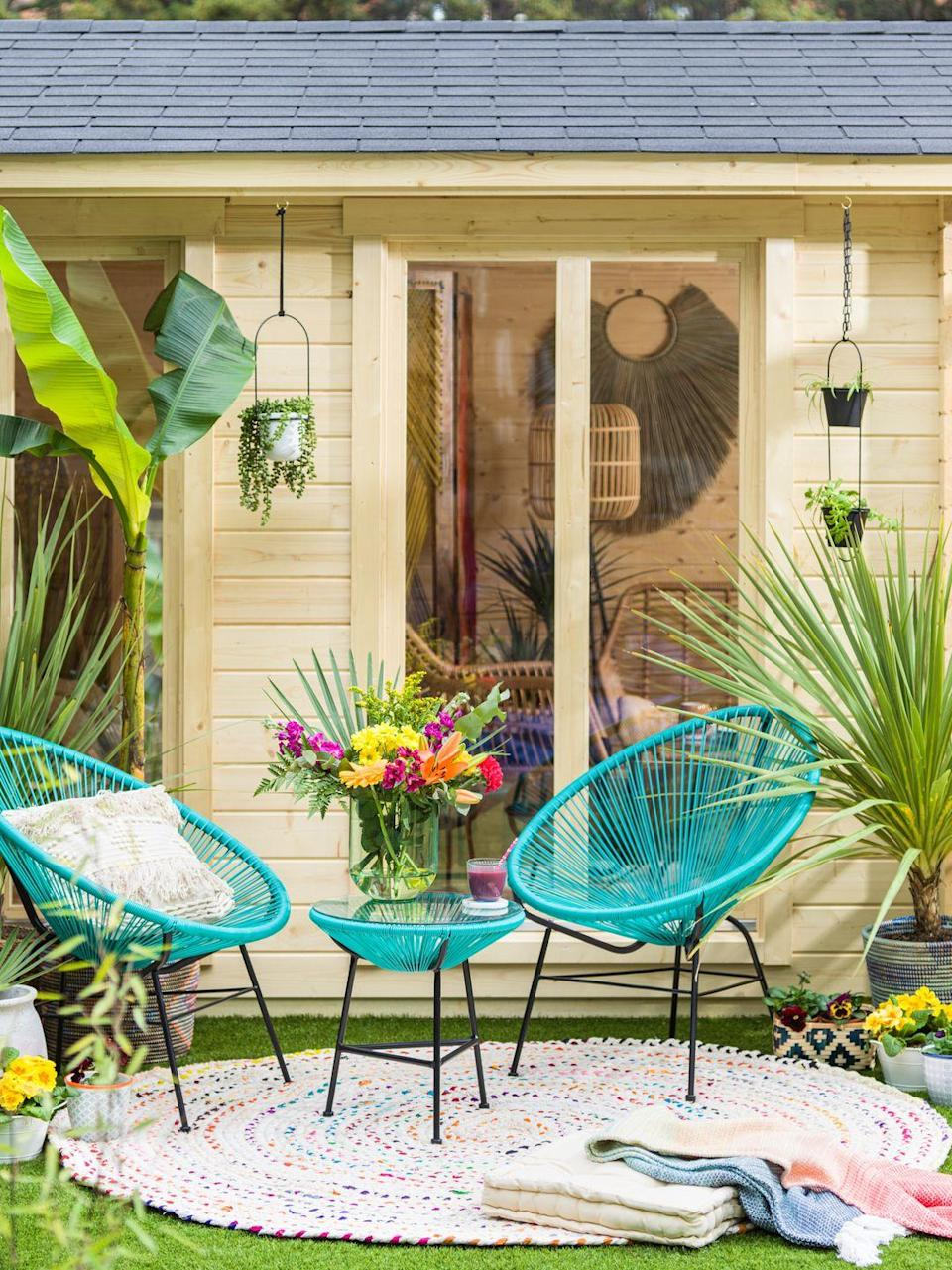 <p>AJ, who describes her style as 'bright and bold', takes a lot of inspiration from her wardrobe: 'I figured that if I use bright, strong patterned palettes that I love to wear I will never bore of seeing them in my furnishings.'</p>
