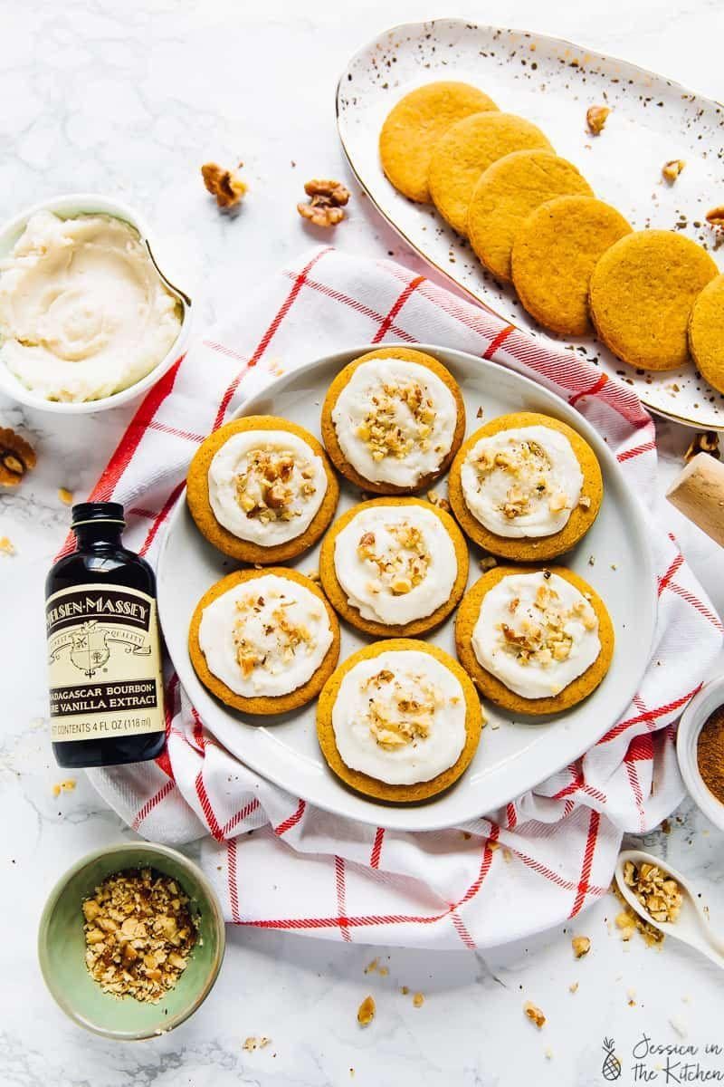 """<p>We love anything pumpkin-spiced come fall, and this pumpkin cookie is no exception! Serve it with a dairy-free PSL for a seasonal and healthy treat. </p><p><strong>Get the recipe at <a href=""""https://jessicainthekitchen.com/rolled-pumpkin-spice-cookies/"""" rel=""""nofollow noopener"""" target=""""_blank"""" data-ylk=""""slk:Jessica in the Kitchen"""" class=""""link rapid-noclick-resp"""">Jessica in the Kitchen</a>. </strong></p>"""