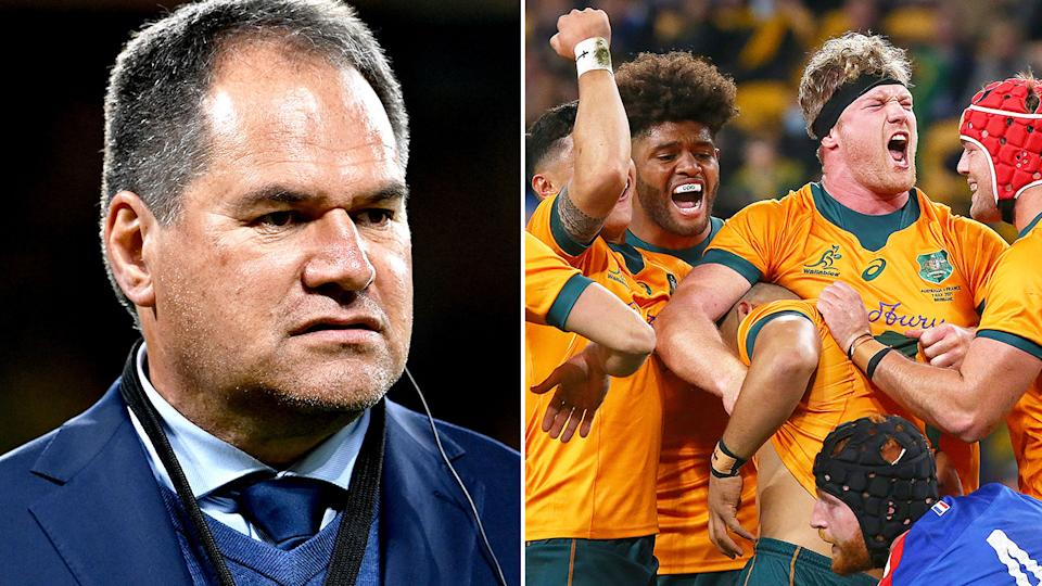 Australia coach Dave Rennie will be keen to see a more assured Wallabies performance in the second Test against France. Pic: Getty