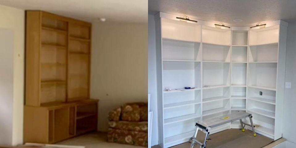 This Couple's Genius Hack Turned IKEA Bookshelves Into a Gorgeous, Built-In Library