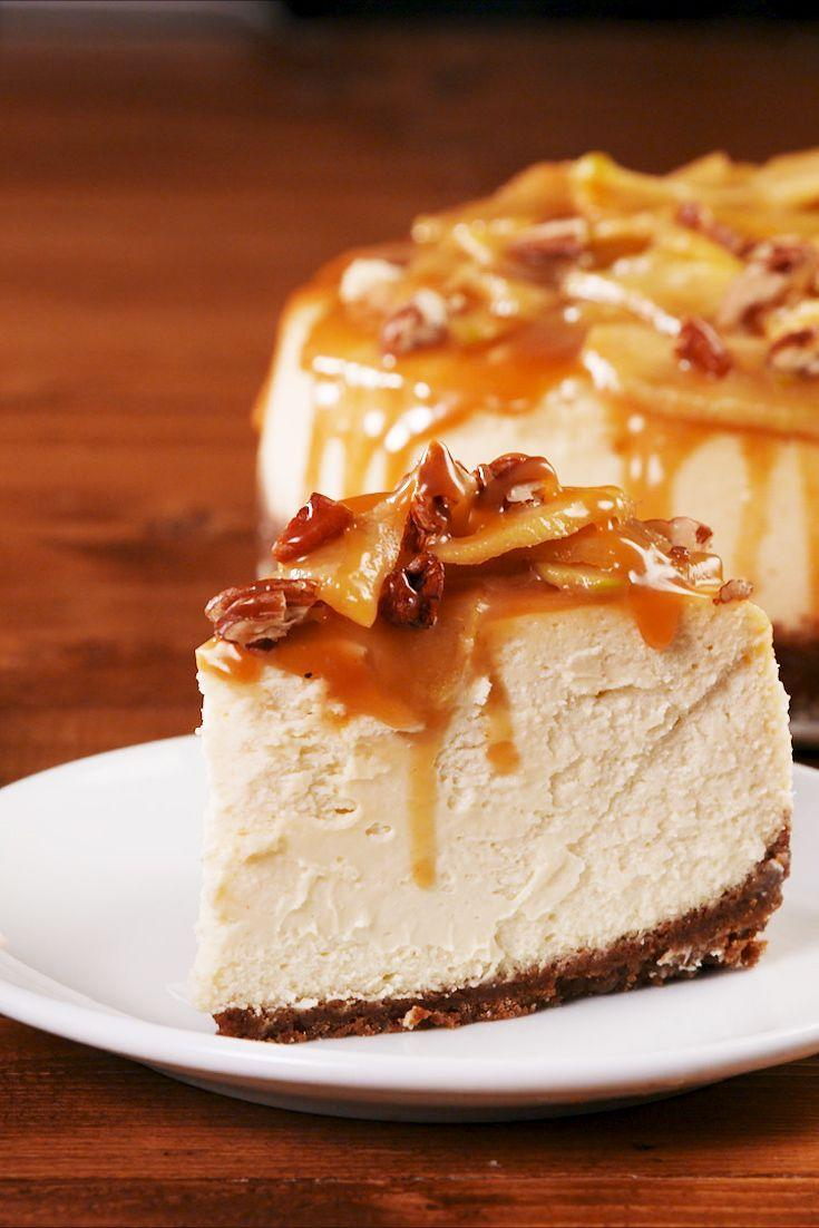 """<p>This gingersnap crust changes the game.</p><p>Get the recipe from <a href=""""https://www.delish.com/cooking/recipe-ideas/a22998962/caramel-apple-cheesecake-recipe/"""" rel=""""nofollow noopener"""" target=""""_blank"""" data-ylk=""""slk:Delish"""" class=""""link rapid-noclick-resp"""">Delish</a>.</p>"""