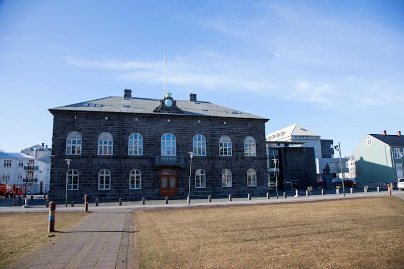 The Icelandic Parliament building in Reykjavik, Iceland. (Bloomberg via Getty Images)