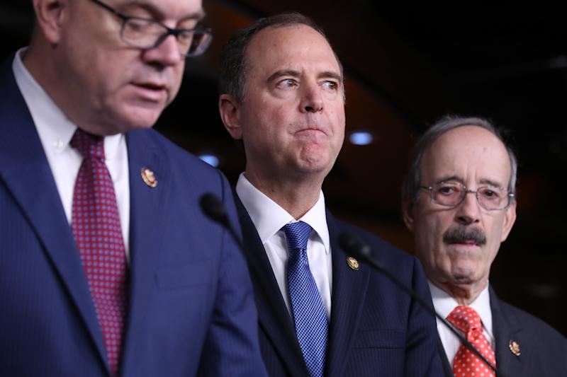 Adam Schiff, center