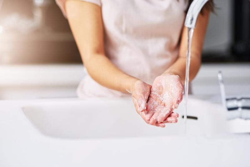 Regularly washing your hands could leave skin dry an cracked. (Getty Images)