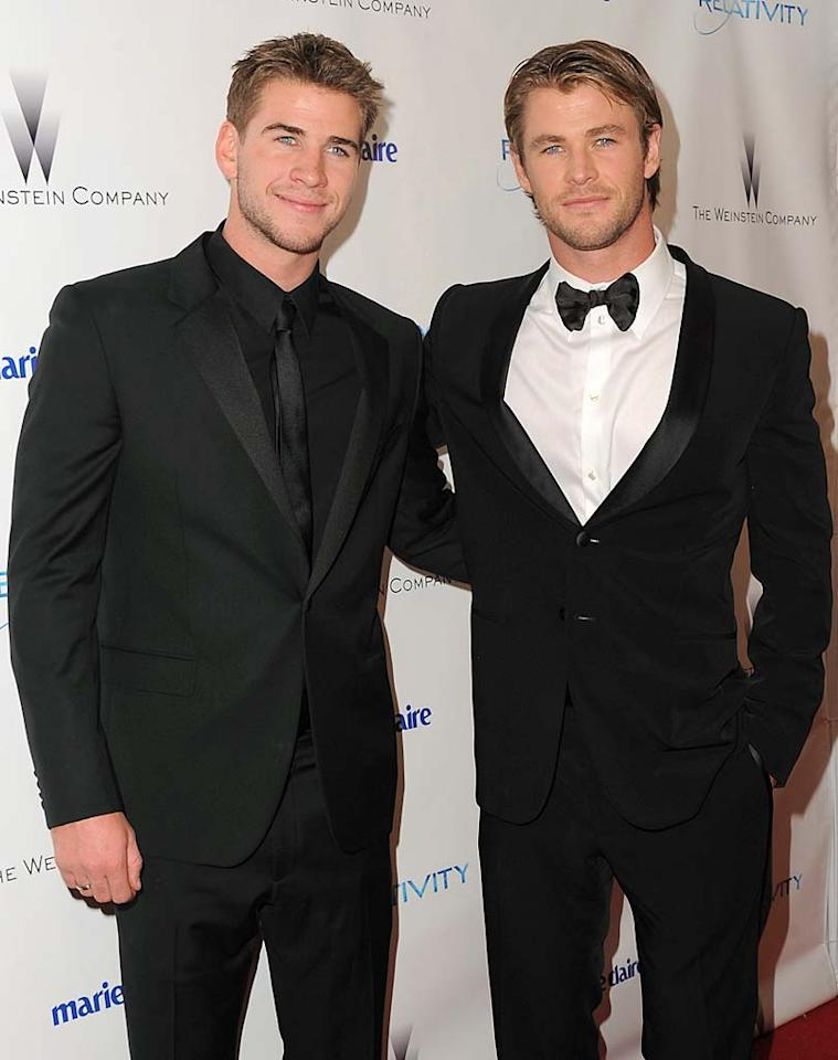 "Miley Cyrus' ex-boyfriend, ""The Last Song"" star Liam Hemsworth, and his even hotter older brother, ""Thor"" star Chris Hemsworth, are clearly a couple of handsome young Aussies on the rise. Jordan Strauss/<a href=""http://www.wireimage.com"" target=""new"">WireImage.com</a> - January 16, 2011"