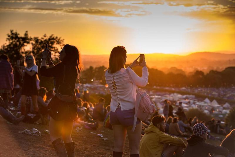 Festivals in focus: Sunset at glastonbury: Getty Images
