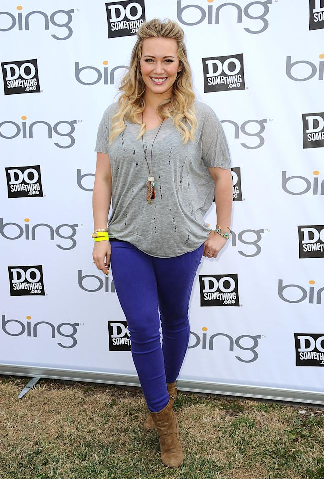 LOS ANGELES, CA - JUNE 01:  Actress Hilary Duff attends the Bing Summer of Doing at Heart of Los Angeles on June 1, 2012 in Los Angeles, California.  (Photo by Jason LaVeris/FilmMagic)