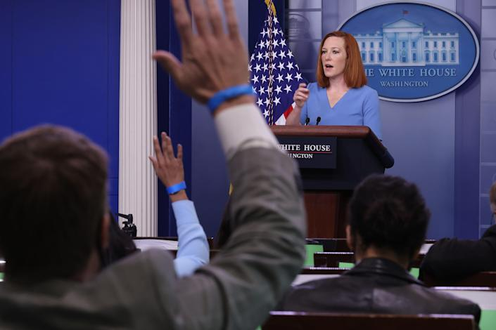 Don't take questions': White House press secretary frowns on Biden's media  interaction