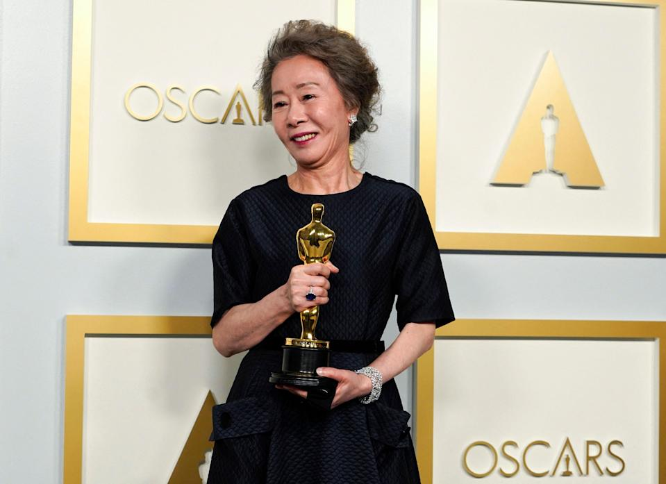Yuh-Jung Youn, winner of the award Actress in a Supporting Role for 'Minari'AFP/Getty