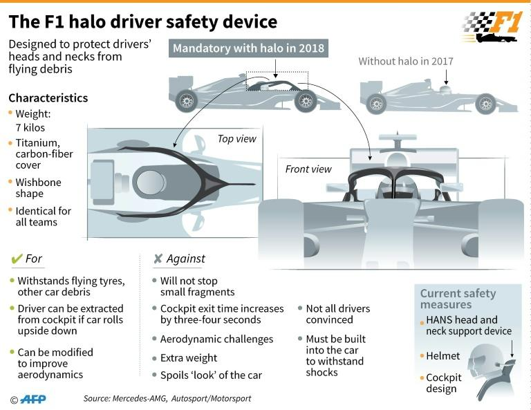 The F1 halo driver protection device