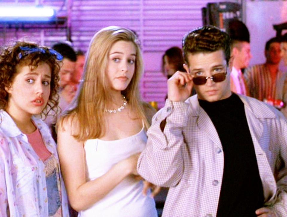 """<p>The dress Cher wore on her date with Christian in <em>Clueless</em> is on par with the decade's minimalist trend. The sheer white """"jacket"""" she throws on over said dress is equally as stylish. Think it's, ahem, boring? As if!</p>"""