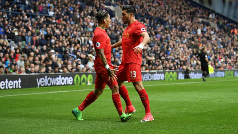 HD Roberto Firmino Emre Can Liverpool celebrate