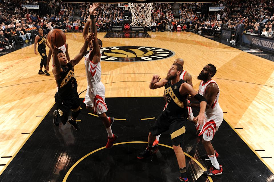 The Raptors and Rockets are the top seeds in their respective conferences … and yet they're not the favorites to reach the NBA Finals. (Getty)