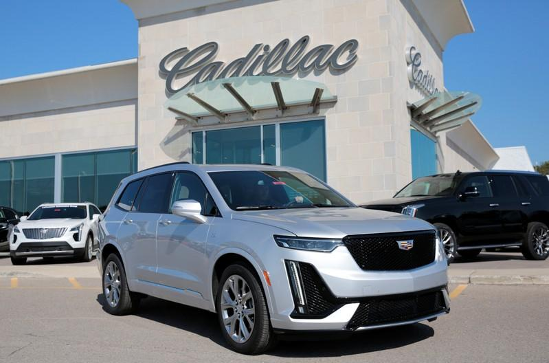A Cadillac XT6 vehicle is seen at the La Fontaine Cadillac dealership in Highland, Michigan,