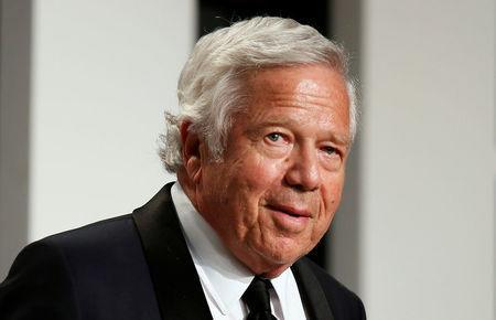 FILE PHOTO: New England Patriots owner Robert Kraft arrives for the 89th Academy Awards Oscars Vanity Fair Party in Beverly Hills, California, U.S., February 26, 2017. REUTERS/Danny Moloshok/File Photo