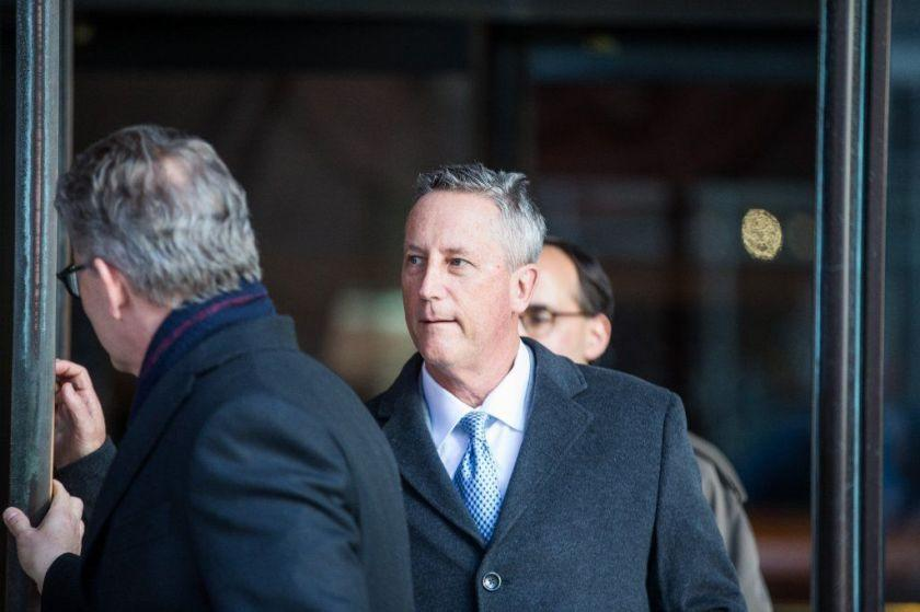 BOSTON, MA - MARCH 25: Martin Fox, president of a private tennis academy in Houston, leaves following his arraignment at Boston Federal Court on March 25, 2019 in Boston, Massachusetts. A dozen coaches, athletic directors and test proctors are being arraigned in relation to the college admissions scandal on Monday. (Photo by Scott Eisen/Getty Images) ** OUTS - ELSENT, FPG, CM - OUTS * NM, PH, VA if sourced by CT, LA or MoD **