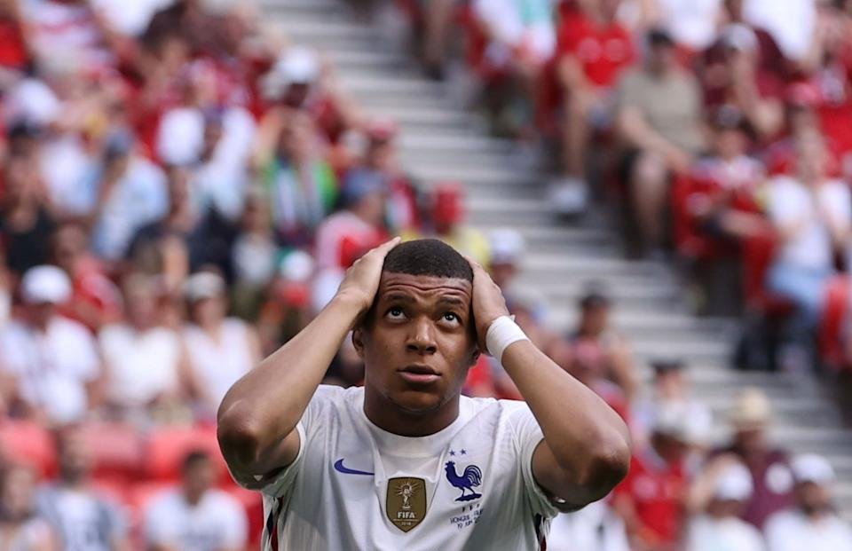 Soccer Football - Euro 2020 - Group F - Hungary v France - Puskas Arena, Budapest, Hungary - June 19, 2021 France's Kylian Mbappe reacts Pool via REUTERS/Bernadett Szabo     TPX IMAGES OF THE DAY