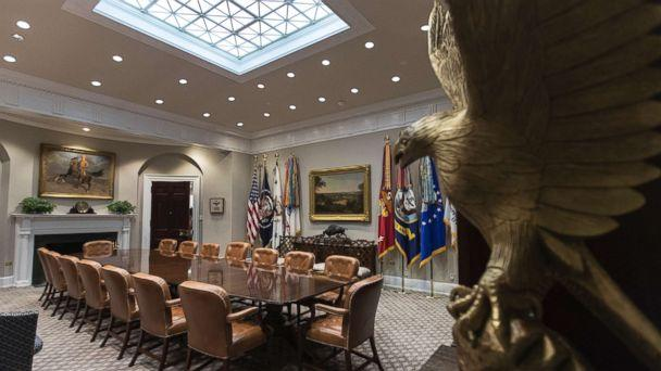 PHOTO: The newly renovated Roosevelt Room of the White House, Aug. 22, 2017. (Carolyn Kaster/AP)