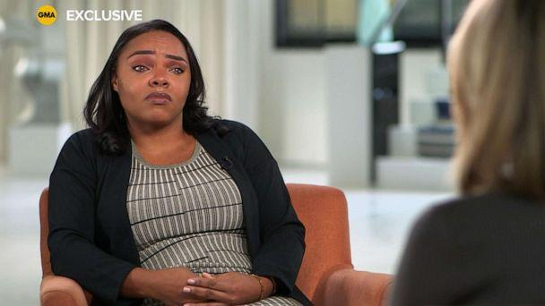 PHOTO: Shayanna Jenkins, the fiancee of the late Aaron Hernandez speaks with ABC News. (ABC News)