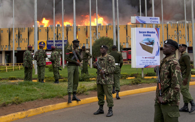 APNewsBreak: Banks looted in Kenya airport fire
