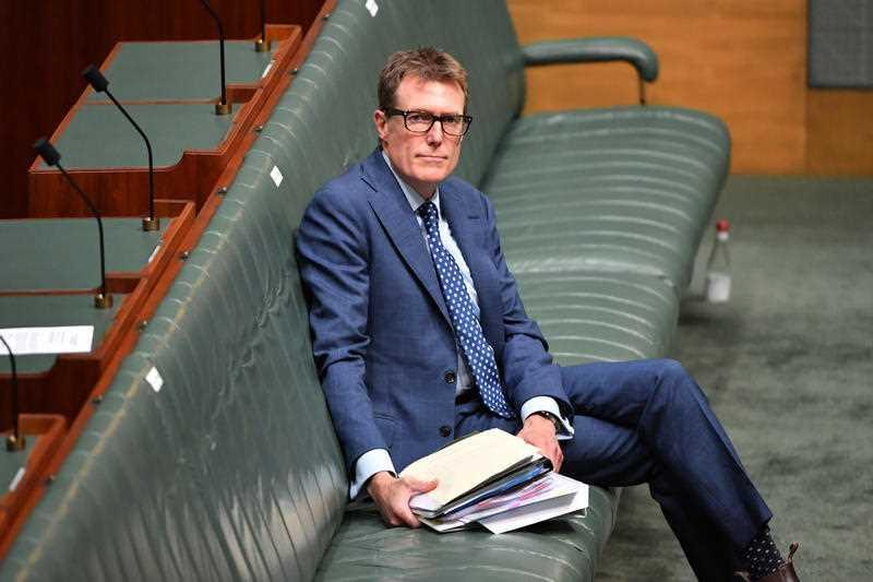 Attorney-General Christian Porter after Question Time in the House of Representatives at Parliament House in Canberra.