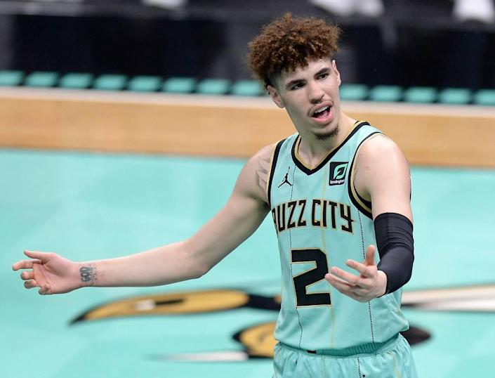 Charlotte Hornets rookie LaMelo Ball has struggled lately, particularly as a shooter, in the team's five-game losing streak.