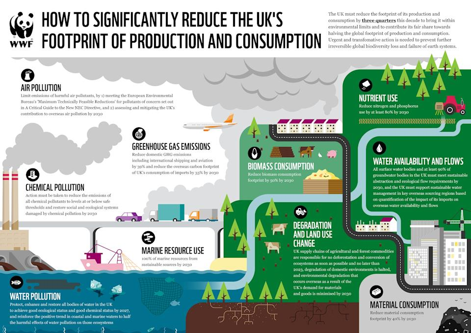 The WWF suggests measures which could cut Britain's environmental footprint (WWF)
