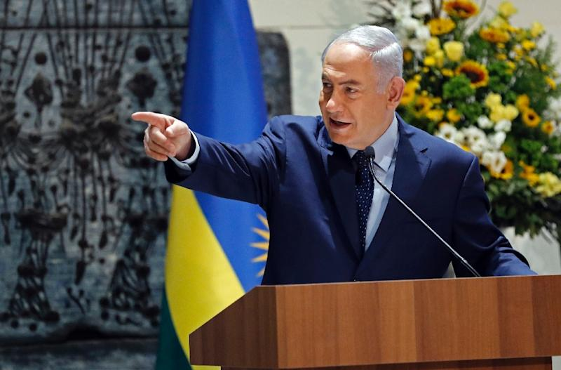 Israeli Prime Minister Benjamin Netanyahu shares Hungarian counterpart Viktor Orban's antipathy towards US billionaire George Soros (AFP Photo/THOMAS COEX)
