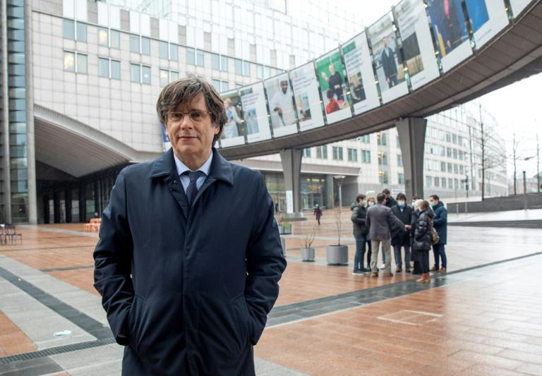 Former Catalan president Carles Puigdemont is wanted in Spain on allegations of sedition following an attempt to gain independence through a referendum (AFP/HATIM KAGHAT)