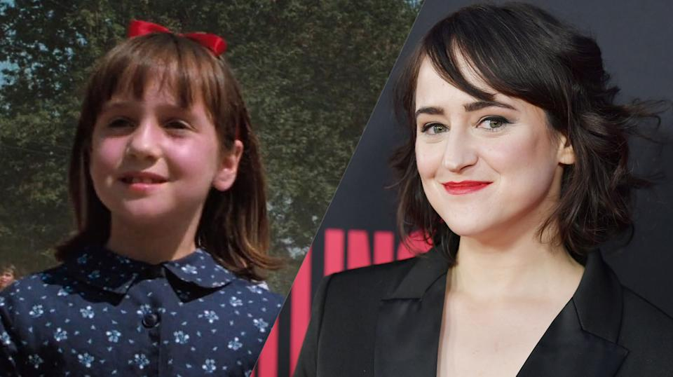 Mara Wilson then and now (credit: TriStar Pictures)
