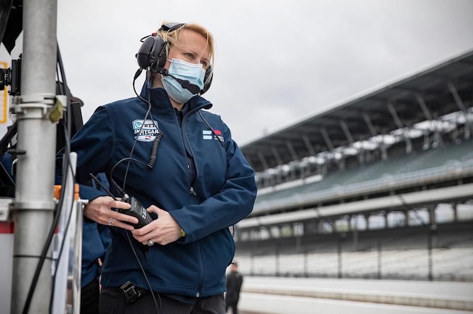 """Beth Paretta, CEO and team principal of Paretta Autosport, is passionate about furthering female representation in motorsports. """"I don't want to take your seat at the table, we want to build a longer table."""""""