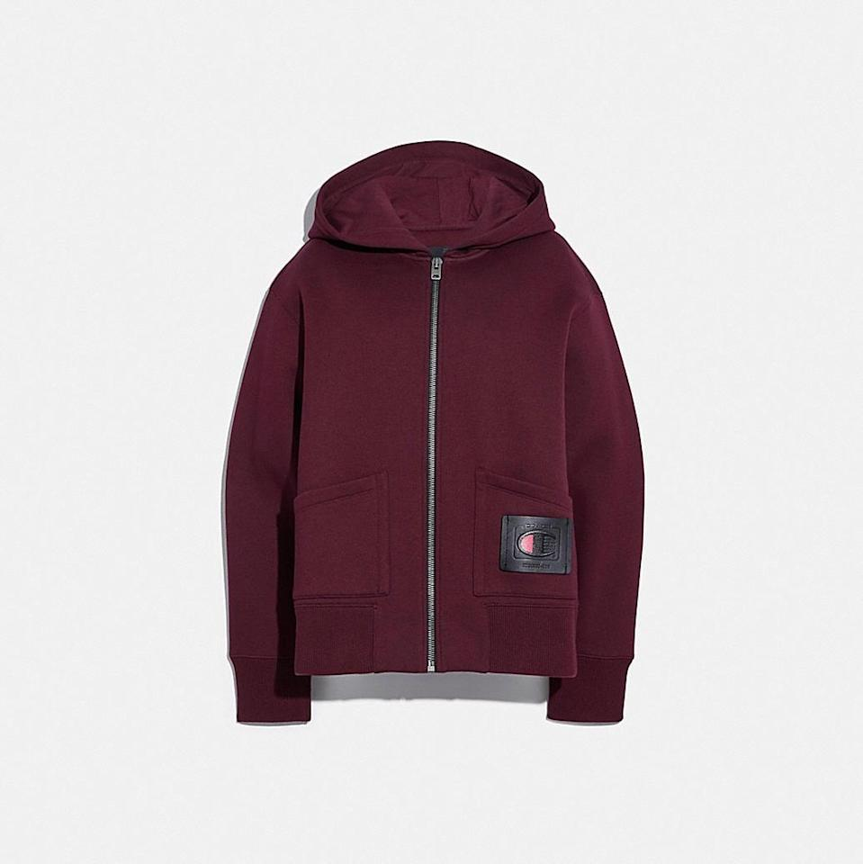 <p><span>Coach x Champion Super Fleece Zip Hoodie</span> ($395)</p>