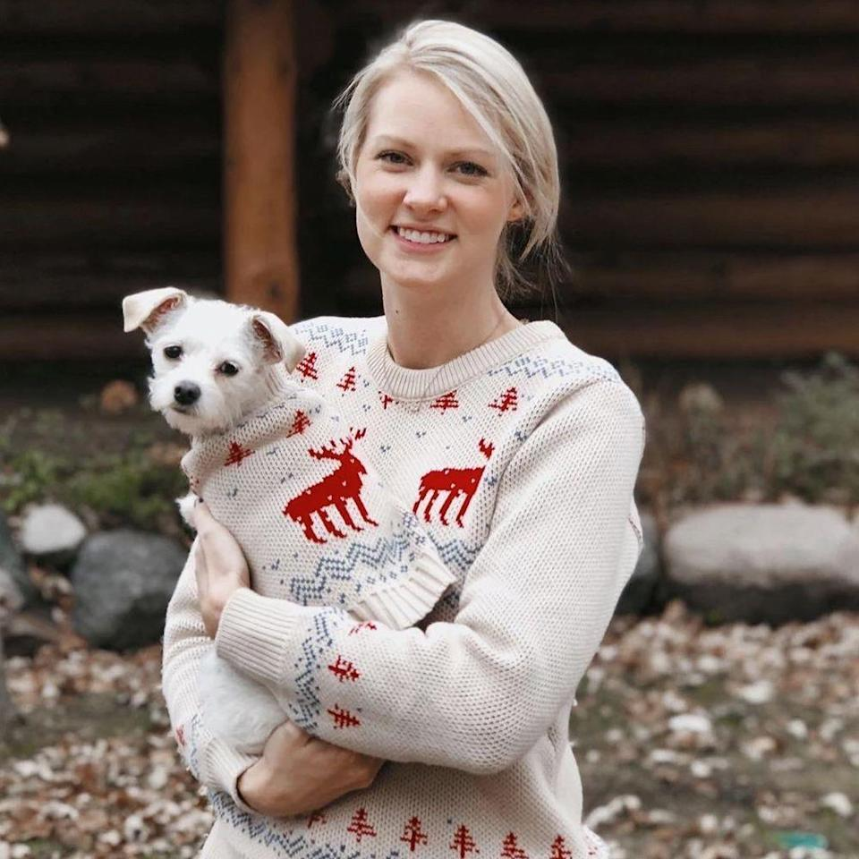 "<p><strong>Dog Threads</strong></p><p>shopdogthreads.com</p><p><strong>$42.00</strong></p><p><a href=""https://shopdogthreads.com/collections/matching-sweaters/products/christmas-sweater-matching-sizes-for-dogs-humans"" rel=""nofollow noopener"" target=""_blank"" data-ylk=""slk:Shop Now"" class=""link rapid-noclick-resp"">Shop Now</a></p>"