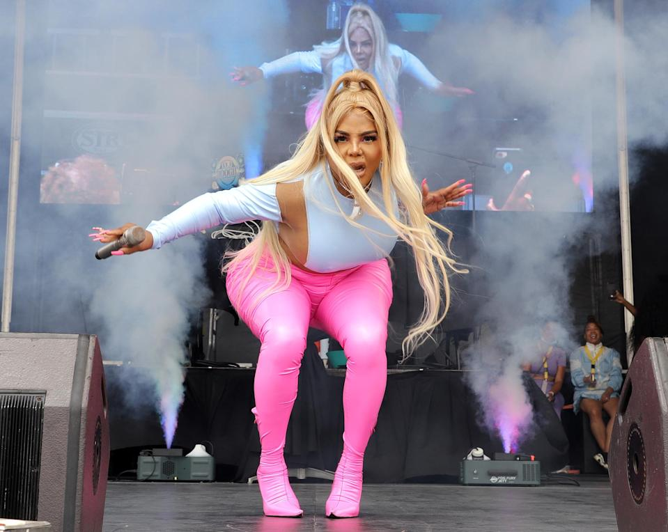 <p>Lil' Kim performed at the 16th Annual Florida AIDS Walk & Music Festival at Fort Lauderdale Beach Park.</p>