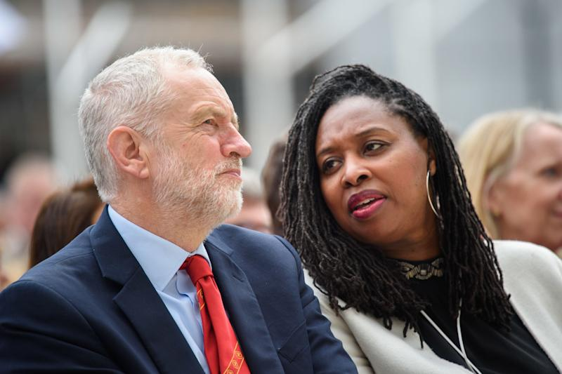 Labour leader Jeremy Corbyn and shadow women and equalities secretary Dawn Butler, who has led the party's push for better Black history teaching in schools. (Photo: Empics Entertainment)