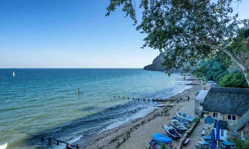 Shanklin beach on the isle of Wight in England