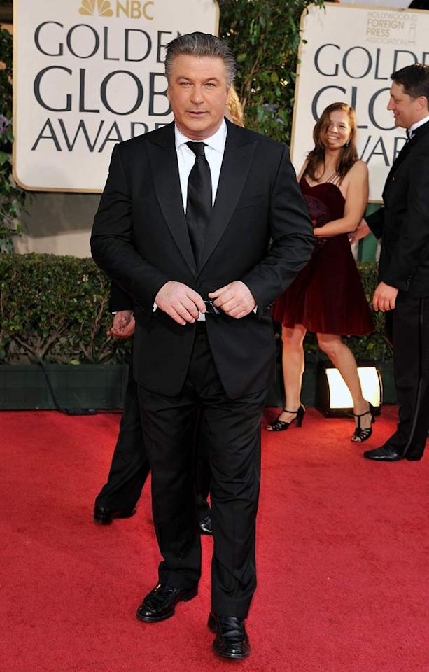"""Alec Baldwin arrives at the 66th Annual Golden Globe Awards in Beverly Hills. Steve Granitz/<a href=""""http://www.wireimage.com"""" target=""""new"""">WireImage.com</a> - January 11, 2009"""
