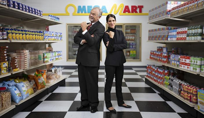 """There will be characters to learn about in the Omega Mart and beyond, such as Omega Mart founder Walter Dram and his daughter, Cecelia, successor as CEO. <span class=""""copyright"""">(Meow Wolf)</span>"""