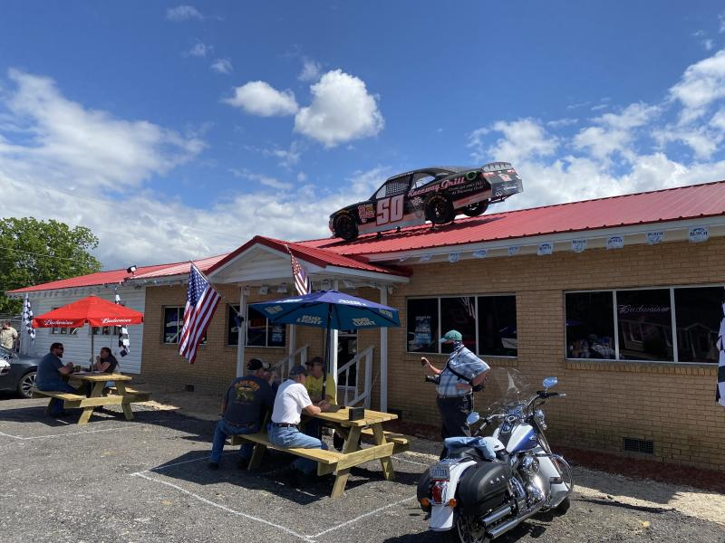 Restaurants depend on race weekend to generate a hefty business, but Sunday customers were sparse despite the return of NASCAR. (Yahoo Sports)