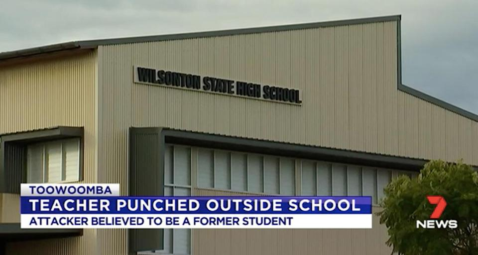 The incident happened at Wilsonton State High in Toowoomba. Source: 7 News