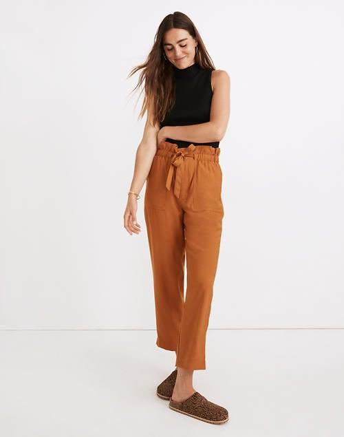 """<br><br><strong>Madewell</strong> Dunaway Paperbag Pants, $, available at <a href=""""https://go.skimresources.com/?id=30283X879131&url=https%3A%2F%2Fwww.madewell.com%2Fdunaway-paperbag-pants-AN843.html"""" rel=""""nofollow noopener"""" target=""""_blank"""" data-ylk=""""slk:Madewell"""" class=""""link rapid-noclick-resp"""">Madewell</a>"""