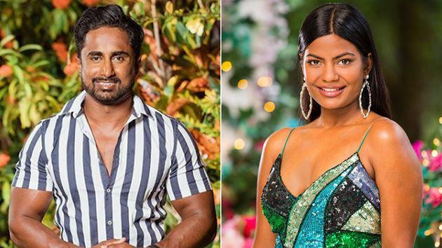 Answering a question asked by this author during an Instagram Q&A, 'Bachelor in Paradise's' Niranga Amarasinghe (left) offered advice to 'The Bachelor Australia's' Areeba Emmanuel.