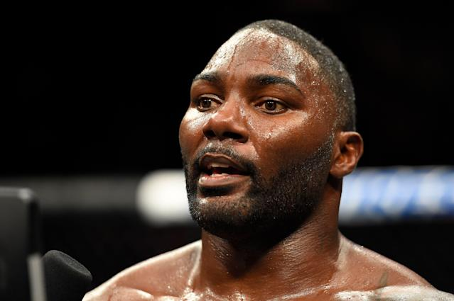 Anthony Johnson has reportedly been arrested on a domestic violence charge. (Photo by Josh Hedges/Zuffa LLC/Zuffa LLC via Getty Images)
