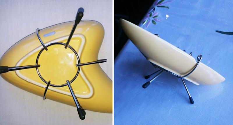 Photos of bizarre boomerang ashtray purchased by a man in Fremantle, near Perth in WA.