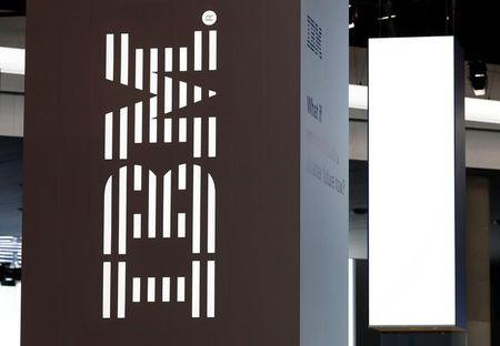 A logo of IBM is seen at the Mobile World Congress in Barcelona, Spain February 28, 2018. REUTERS/Yves Herman