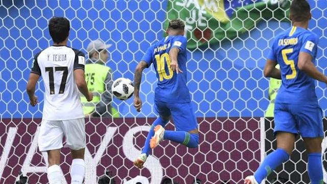 Brazil left it very late, but posted their first win of the World Cup thanks to Philippe Coutinho and Neymar to go top of Group E. Work still needs to be done for the five-time world champions to make the last 16, but a point in their final game against Serbia will do after the Serbs lost 2-1 to Switzerland. In group D Ahmed Musa struck twice to hand Nigeria a 2-0 win over Iceland and keep Argentina's chances of qualifying alive before the two sides meet in Saint Petersburg next week.