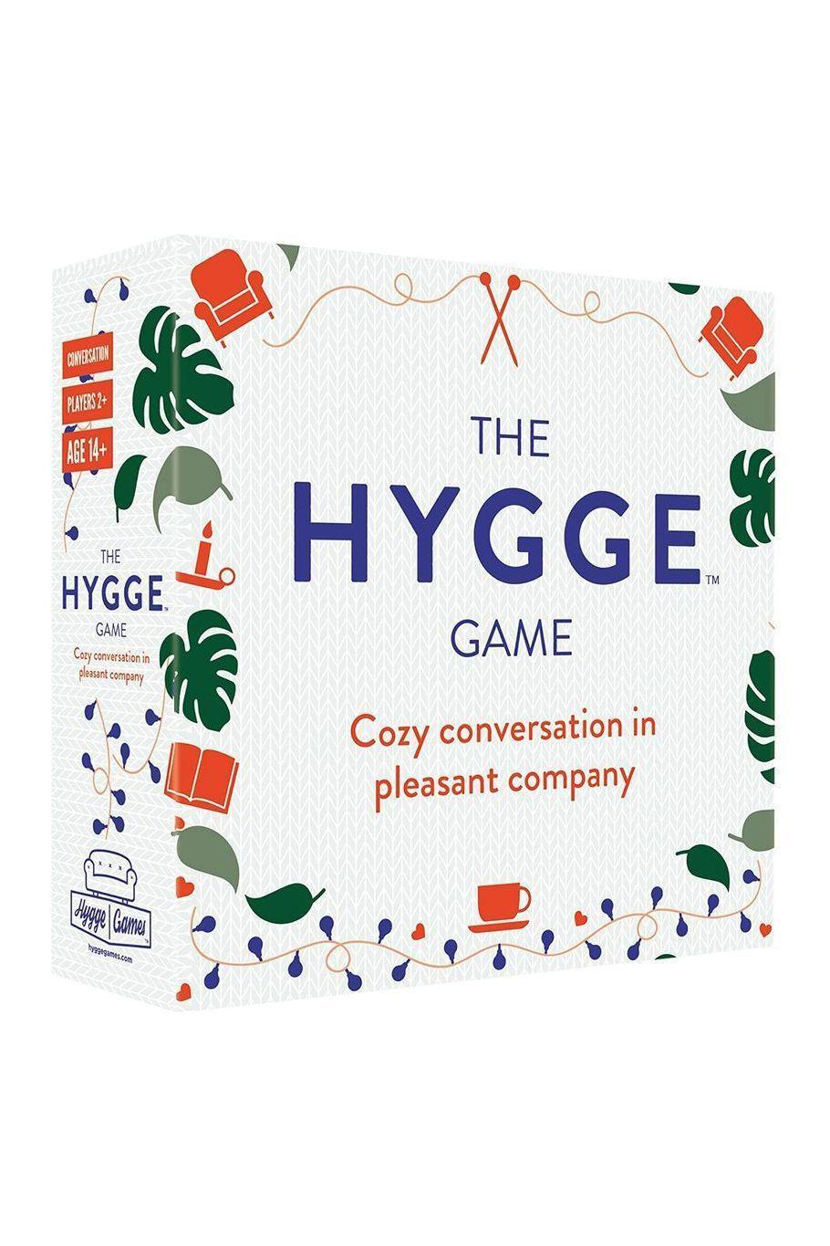 """<p><strong>Hygge Games</strong></p><p>amazon.com</p><p><strong>$16.00</strong></p><p><a href=""""https://www.amazon.com/dp/B0778X7GNL?tag=syn-yahoo-20&ascsubtag=%5Bartid%7C10063.g.34824549%5Bsrc%7Cyahoo-us"""" rel=""""nofollow noopener"""" target=""""_blank"""" data-ylk=""""slk:Shop Now"""" class=""""link rapid-noclick-resp"""">Shop Now</a></p><p>Containing 330 questions that are thought-provoking, and yet not mentally draining (i.e., """"What's the most annoying sound?""""), this game works for FaceTimes with loved ones or dinner parties, when we eventually start to hold those again.</p>"""