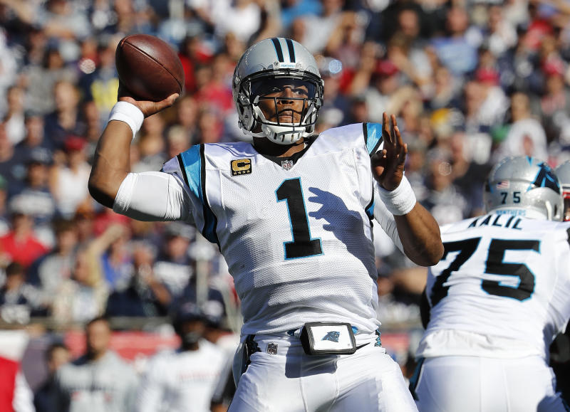 Carolina Panthers quarterback Cam Newton apologized for comments to a female reporter. (AP)