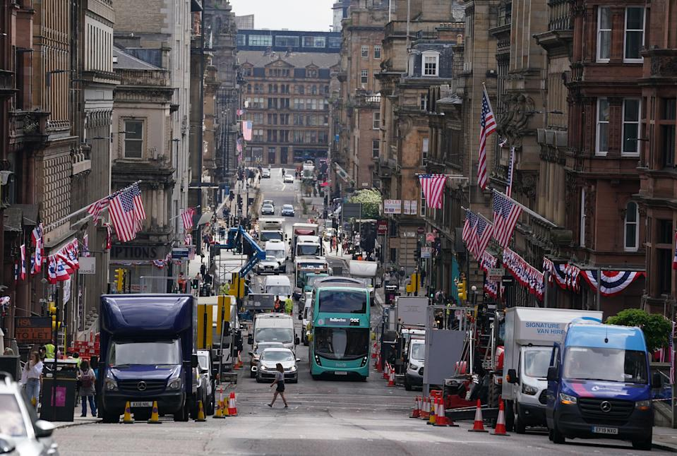 Filming in Glasgow (PA Wire)