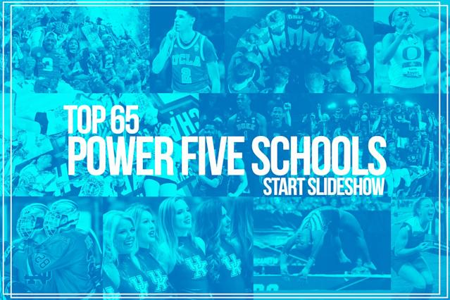 Ranking the 65 Power Five schools in terms of athletic success. (Yahoo Sports illustration)